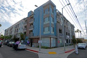 'I made it home:' Homeless vets celebrate new Harbor Gateway apartments