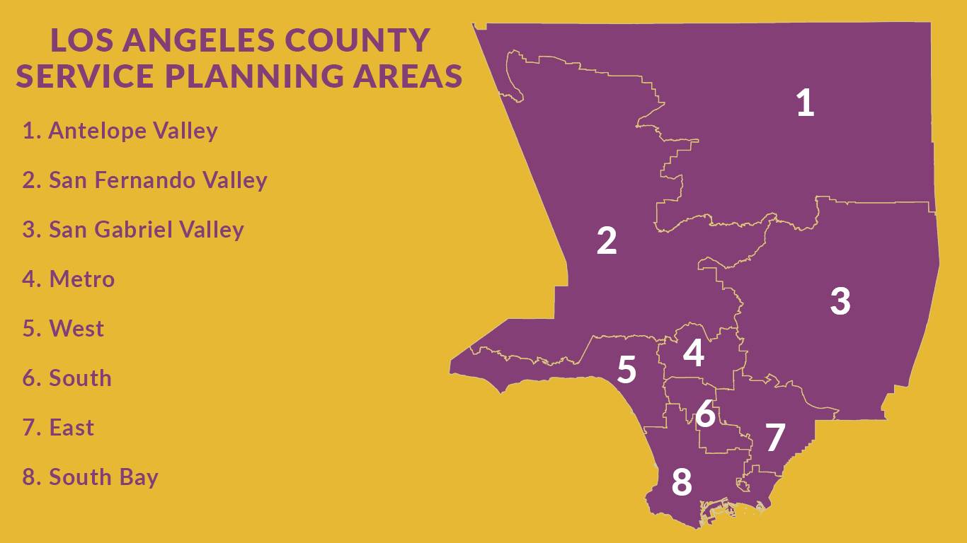 los angeles county service planning areas images